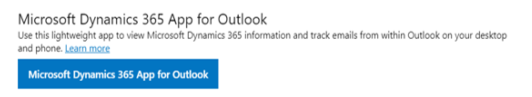 add Dynamics 365 to Outlook