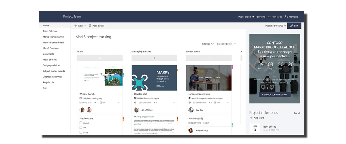 sharepoint for project management solution
